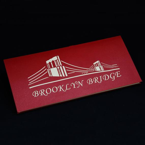Brooklyn bridge 3d pop up greeting card handmade large nepsource brooklyn colourmoves